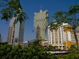 Gran Lisboa Casino, Macau, China, Asia Photographic Print by Charles Bowman