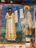 The Donors Stephen the Great Prince and Voivode of Moldavia 1435-1504, fresco Photographic Print