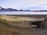 Old Wooden Whaling Boat on Beach at Whaler's Bay, Deception Island, Antarctica, Polar Regions Photographic Print by Michael DeFreitas