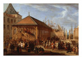 Marquis of Seignelay and Duke of Vivonne Visiting the Royal Galley, Marseilles, France, 1679 Giclee Print