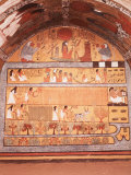 Fields of Yaru, Fresco, Tomb of Sennedjem, 19th dynasty, Deir El Medina, Thebes Photographic Print
