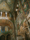 Interior Showing Apse, Basilica San Vitale, 6th century AD, Ravenna Photographic Print