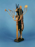 Goat in Thicket, Statuette of Gold, Copper, Lapis Lazuli, Red Limestone and Shell, Sumerian Ur Photographic Print