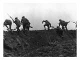 Going Over the Top, Soldiers Climbing over Trench on First Day of Battle of Somme, July 1, 1916 Giclee Print