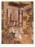 Painting, from Elegant Pastimes, Japanese screen, Edo period, early 18th century Reproduction proc&#233;d&#233; gicl&#233;e par Kano Tansetsu