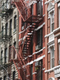 Fire Escapes, Chinatown, Manhattan, New York, United States of America, North America Photographic Print by Martin Child