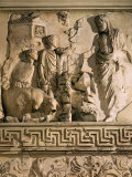 Aeneas and the Sanctuary of the Penates, Relief, Monumental Altar Photographic Print