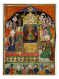 Court Scene from Shahnama, 14th century Iran Timurid Period Giclee Print