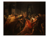 Death of Julius Caesar, 100-44 BC Roman General and Statesman Giclee Print by Friedrich Heinrich Fuger
