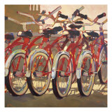 Retro Bikes Art by Darrell Hill