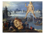 The Colossus at Rhodes Giclee Print by Louis De Caulery