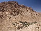 St. Catherine's Monastery, with Shoulder of Mount Sinai Behind, Sinai Peninsula Desert, Egypt Photographic Print by Tony Waltham