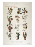 Aztec Gods from the Florentine codex Reproduction procédé giclée