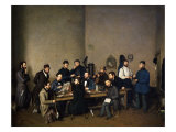 Political Meeting in Trier in 1848 Gicl&#233;e-Druck von Johann Velten
