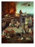 The Temptation of Saint Anthony of Egypt 251-356 founder of monasticism Giclee Print  by  Hieronymus Bosch
