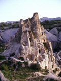 Rock-hewn Dwellings near Uchisar, Cappadocia, Turkey Photographic Print