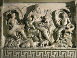 The Tellus (Allegory of Fecund Earth Surrounded by Waters and Winds), Relief, Monumental Altar Photographic Print