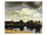 Jan Vermeer - View of Delft, 1658-60 Digitálně vytištěná reprodukce