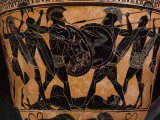 Fighting over Body of Patroclus, friend of Achilles, during Trojan War Photographic Print