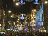 Christmas Lights in Oxford Street, London, England, United Kingdom, Europe Photographic Print by Hazel Stuart