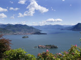 Isola Bella and Isola Madre, Stresa, Lake Maggiore, Piedmont, Italy, Europe Fotografisk tryk af Angelo Cavalli