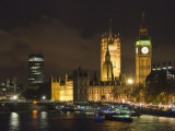 Big Ben and the Houses of Parliament by the River Thames at Dusk, Westminster, London Photographic Print by Hazel Stuart