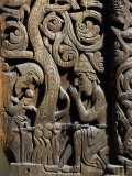 Nordic Saga or Legend of Siegfried or Sigurd, 12th century wood panel from Setesdale Church Norway Photographic Print