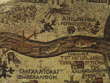 River Jordan Emptying into the Dead Sea, from Byzantine Mosaic, Church of Saint George, Madaba Photographic Print