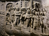Roman Troops Embarking on Ships, Relief from Copy of Trajan's Column Photographic Print