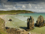 Sea Stacks on Garry Beach, Tolsta, Isle of Lewis, Outer Hebrides Photographic Print by John Woodworth