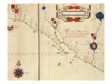 Lower California and West Coast of Mexico, Hydrographic Atlas of 1571 by Fernan Vaz Dourado Giclee Print