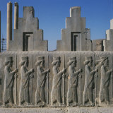 Staircase of Palace of Darius Persepolis Showing Procession of Dignitaries, Achaemenid Period Photographic Print