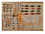 Aboriginal Bark Painting of Ritual Dance, from Yrrkala, Australia Reproduction procédé giclée
