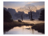 Nature's Early Morning Mist Giclee Print by Michael John Hill