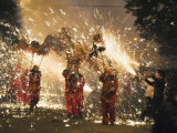 Fire Dragon Lunar New Year Festival, Taijiang Town, Guizhou Province, China, Asia Photographic Print by Christian Kober