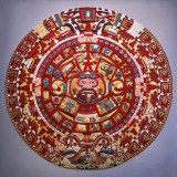 Solar Calendar, Aztec, Mexica Culture (Reconstruction) Photographie