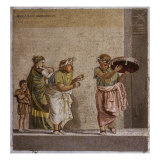 Travelling Musicians with Flute, Castanet and Tambourine Giclee Print
