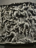 Roman Legionaries Prepare Fortifications, Relief from Copy of Trajan's Column Photographic Print