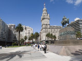 Palacio Salvo, on East Side of Plaza Independencia, Montevideo, Uruguay Photographic Print by Robert Harding