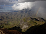 Rainbow Appears Looking East across the Granite Mountains of the Andringitra National Park, Madagascar Africa, Photographic Print