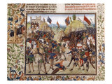 Battle of Crecy in 1346, Victory of Black Prince, Son of King Edward III, over Philip VI of France Giclee Print
