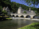 Pont Coud, Dronne River and Abbey, Brantome, Dordogne, France, Europe Photographic Print by Peter Richardson