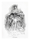 Miss Havisham, Illustration from Great Expectations Giclee Print by Harry Furniss