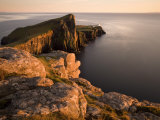 Neist Point and Lighthouse Bathed in Evening Light, Isle of Skye, Highland Photographic Print by Lee Frost