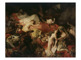The Death of Sardanapalus, 1827 Reproduction procédé giclée par Eugene Delacroix