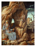 Saint Jerome, 341-420 AD, as Hermit in a Cave Giclee Print by Andrea Mantegna