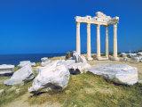 Roman Ruins of the Temple of Apollo, Side, Anatalya Province, Anatolia, Turkey Minor, Eurasia Photographic Print by Sakis Papadopoulos
