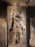 Gilgamesh, or the Lion Spirit, Stone relief, Assyrian, 8th century BC Photographic Print