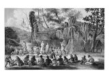 Native Chiefs of Tikopia Receiving Officers of the Astrolabe Giclee Print