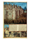 Capture and Sack of Antioch in 1098, First Crusade, French manuscript 15th century Giclee Print